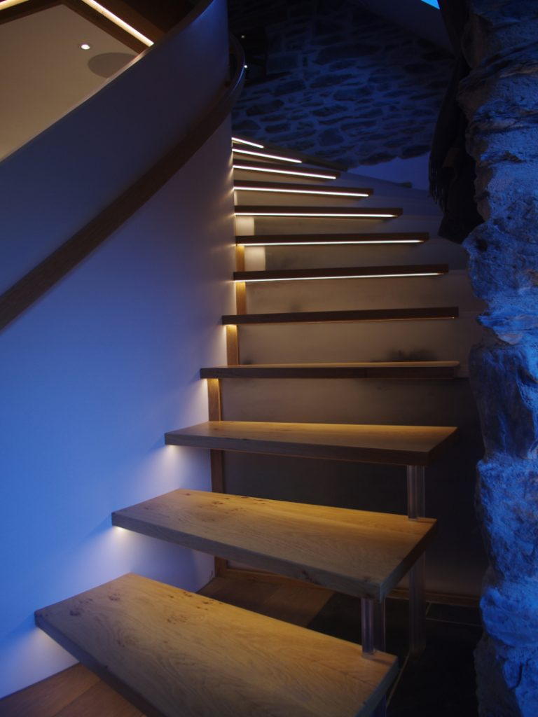 stairs illuminated
