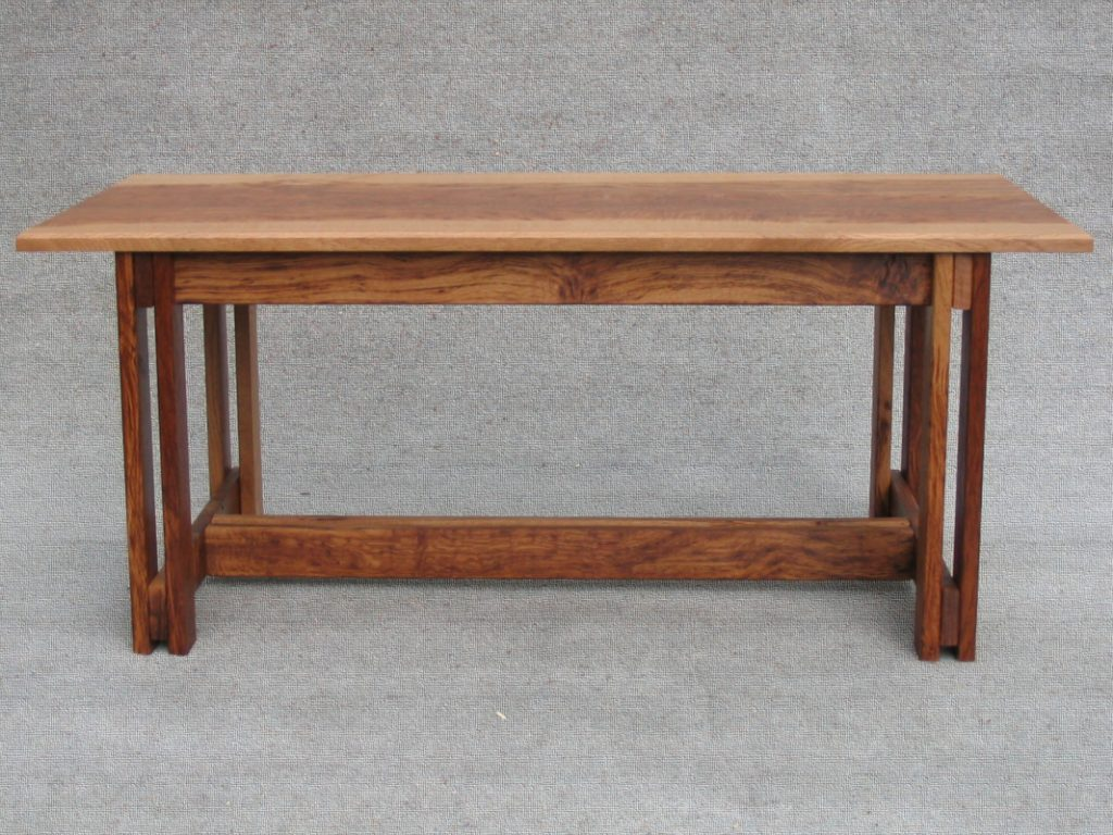 table in tiger oak