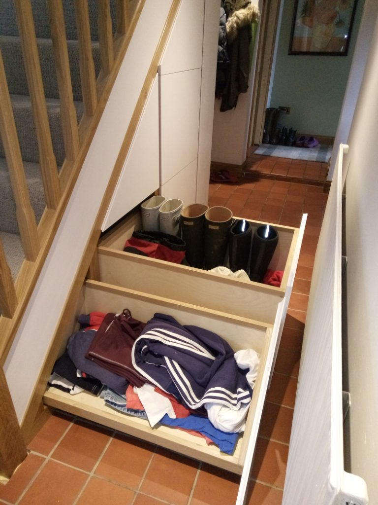 under stair storage drawers